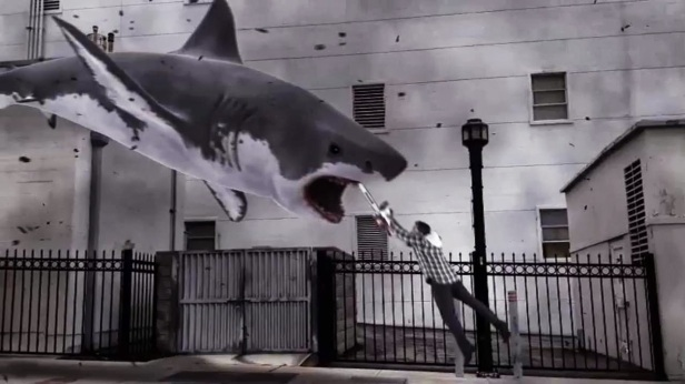 sharkmeetchainsaw