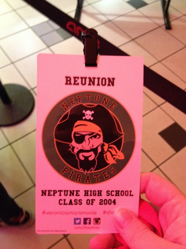 This lanyard signifies that the only high school reunion I've attended is one for a fake high school.