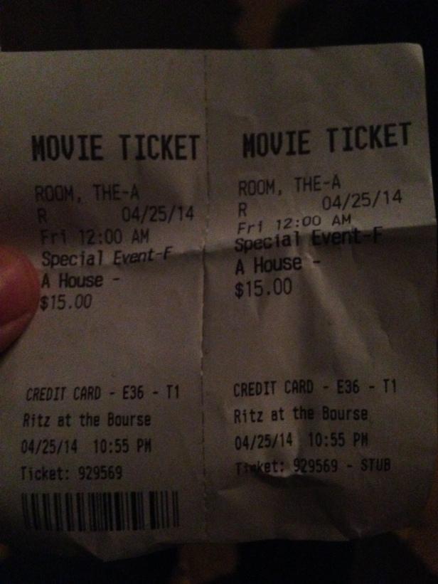 movie ticket_the room